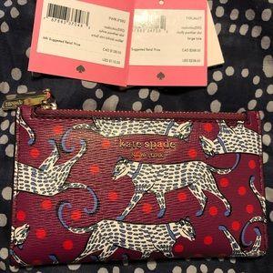 Kate Spade Sylvia Panther Dot Slim Wallet